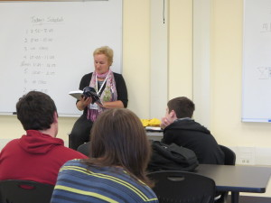 annette oppenlander reading at high school