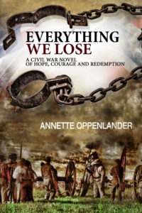 book cover for everything we lose, a civil war novel