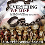 audio book cover for civil war novel 'everything we lose'