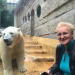 woman with polar bear