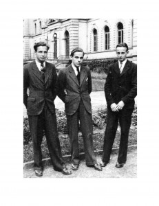 three young men in post-war Germany