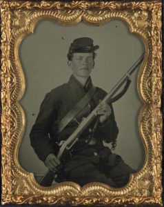 picture of unknown union soldier during the american civil war