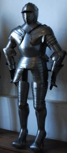 Full body armor as exhibited in Castle Meersburg