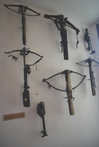Crossbows as shown in the castle museum in Meersburg