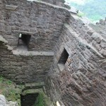 Castle Hanstein's dungeon within the ruins near Bornhagen, Germany