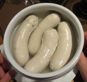 Bowl with Bavarian White Sausages
