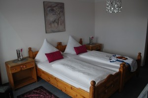 Double bed in German B&B