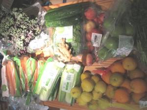 assortment of organic produce