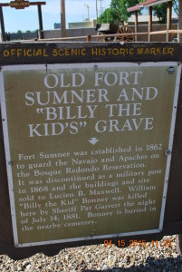 sign at Billy the Kid grave