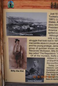 historic marker near Lincoln, NM