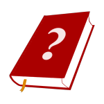 red book with a question mark
