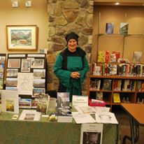 Author Annette Oppenlander at book fair