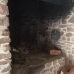 old fashioned open fireplace