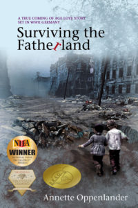 book cover surviving the fatherland with three awards