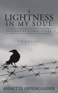 book cover with black raven on barbwire