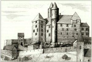 Zeichnung der Burg Haustein