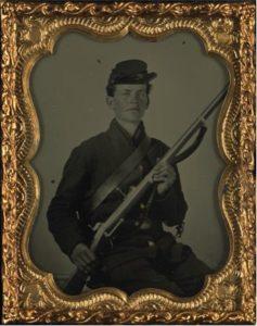 junger Soldat der Union