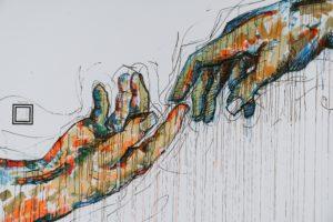 gezeichnete Hände