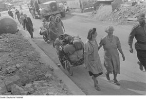 refugee trek 1945 Europe
