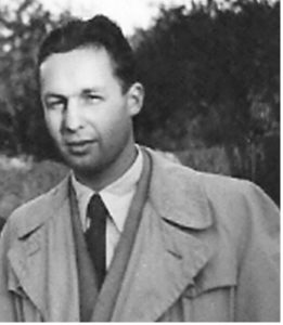 young man in Trenchcoat